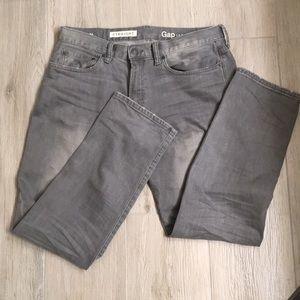 Gap straight leg grey jeans